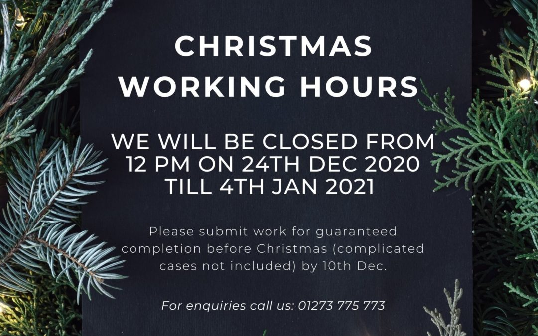 Christmas working hours for 2020