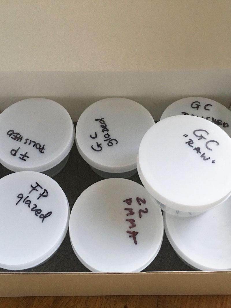boxed samples
